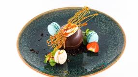 Sfera de ciocolat cu mascarpone